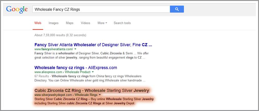 silver jewelry depot
